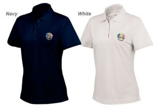 LADIES ASHWORTH RYDER CUP SHIRT  NAVY, WHITE, BLUE or PINK REDUCED TO