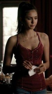 ASO Vampire Diaries ELENA GILBERT Guess Lily Henley Tank Custom Dyed