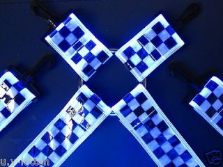 Phat pant braces rave suspenders neon raver clothing Uv reflector