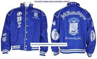Phi Beta Sigma Fraternity Jacket Phi Beta Sigma Blue race jacket coat