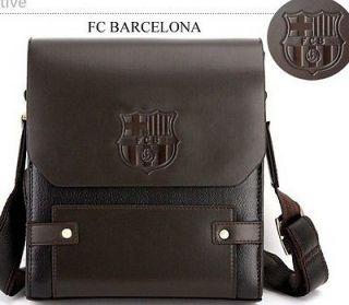2012 FC BARCELONA MESSI SOCCER SPORT FANS Leather Shoulder Messenger