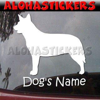 Custom AUSTRALIAN CATTLE BLUE HEELER DOG Breed Vinyl Decal Window