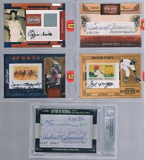 2010 CENTURY COLLECTION #81 OZZIE SMITH UNCIRCULATED AUTO JERSEY 5/5