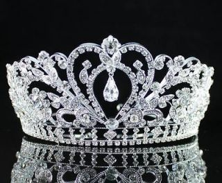 GORGEOUS CLEAR AUSTRIAN RHINESTONE CRYSTAL TIARA CROWN BRIDAL PROM