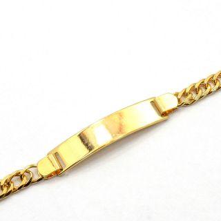 Gold 18k GF Baby Childs Kids Chain Bracelet Tag ID 5.5 Medical Alert