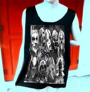 Slipknot Metal rock band Tattoo Korn Unisex Tank Top T Shirt Free Size