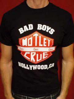 Motley Crue t shirt girls tour 87 bad boys vintage style mens