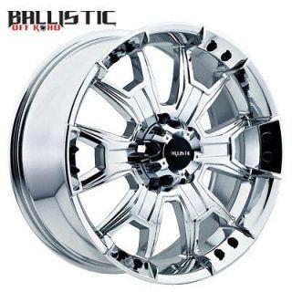 22 inch Ballistic Havoc chrome wheels rims HUMMER H2