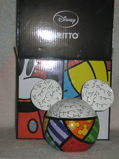 Romero Britto Disney Bank ~ Mickey Mouse Head ~ Functional Bank
