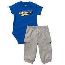 NWT Carters Infant Boys Royal Blue Little Brothers Are Awesome
