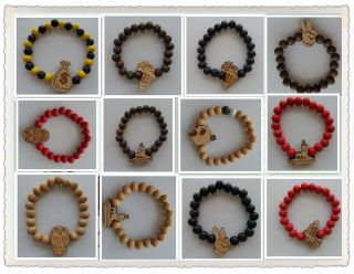 Hip hop fashion good wood, Shambhala bracelet color / optional