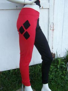 Harley Quinn Batman S XL costume Cosplay Pants Arkham DC DiY City