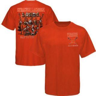 Syracuse Orange Bad to the Bone Lacrosse T Shirt   Orange