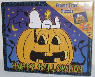 PEANUTS SNOOPY & WOODSTOCK HALLOWEEN TRICK OR TREAT FRAME TRAY PUZZLE