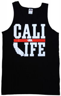 CALI LIFE Tank Top Shirt   Mens women youth   California Republic