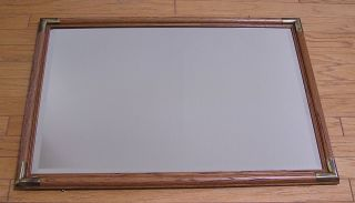 large wood frame mirror in Mirrors