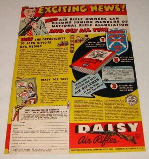 1951 Daisy bb gun air rifle ad ~ JUNIOR NRA