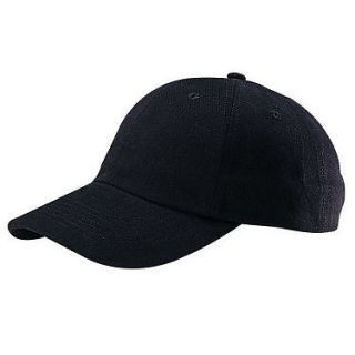 NEW PLAIN LOW PROFILE BASEBALL HAT CAP BLACK