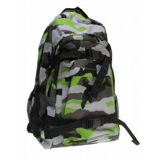 DC Enroll Backpack Lime Green/Camo Mens