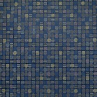 yards NAVY BLUE GEOMETRIC Upholstery Fabric