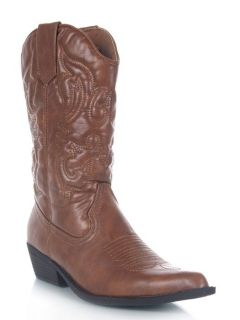 NEW MADDEN GIRL SANGUINE Women Western Cowboy Heel Mid Calf Boot tan