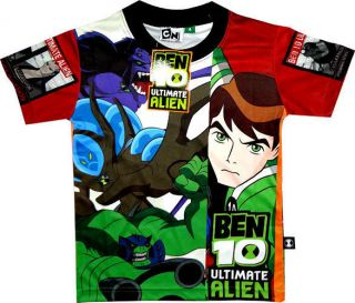 BEN 10 ULTIMATE ALIEN Childrens Kids Boys BEN TEN T Shirt Clothes Toy