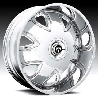 26 DUB 26 Inch 26x9.5 BANDITO Chrome RIMS Wheels & TIREs Package Lugs