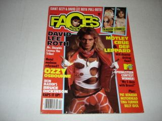 HALEN 1985 Faces Rocks magazine Pat Benatar OZZY Iron Maiden R.E.M
