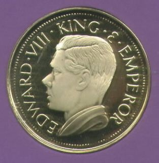 1936 Gibraltar King Edward VIII Abdicated Pattern Crown Coin UNC in