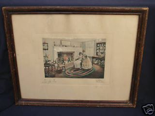 Bessie Pease Gutmann Tea For Two Signed Original Print