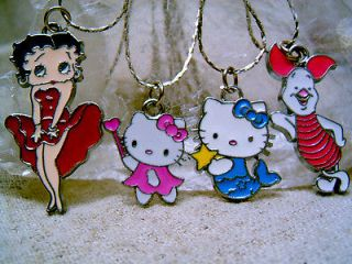 Sexy Betty Boop Hello kitty Disney Piglet Enamel Necklace Chain