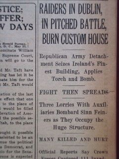 0806123WQ IRISH REPUBLICAN ARMY BURN CUSTOM HOUSE 1921 OLD HISTORIC