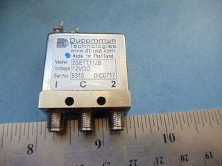 QTY SMA Relay Switch NICE Ducommun RF 2SE1T11JB Relay SMA DC to 26.5