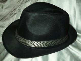NEW ~ VINTAGE STYLE MOB / Mafia Gangster Fedora Hat Antique