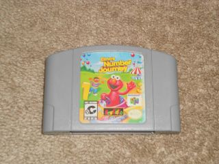 Number Journey TESTED SESAME STREET BERT ERNIE (Nintendo 64, 1999