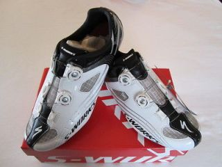 Specialized S Works Carbon Road Cycling Shoes 45 EU, 12 US Black/Whi