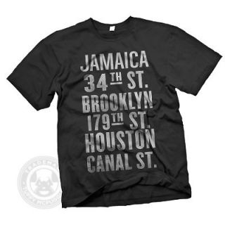 Stops sign train distressed Brooklyn Queens New York City T Shirt NWT