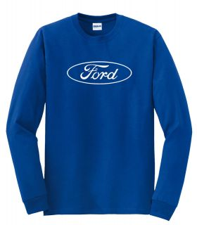 FORD LONG SLEEVE BLUE SHIRT RACING TRUCK NASCAR F150 F250 F350 MUSTANG