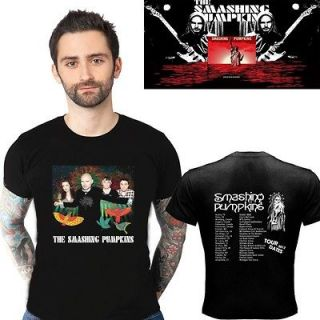 NEW SMASHING PUMPKINS TOUR 2012 TWO SIDE BLACK TEE SHIRT S   2XL SIZE