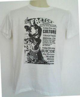 Factory records t shirt joy division suicide section 25