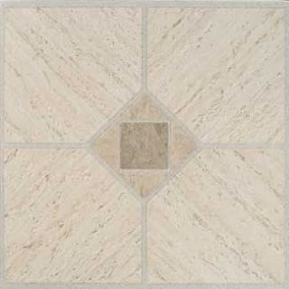 Beige Vinyl Floor Tile 36 Pcs Self Adhesive Flooring   Actual 12 x