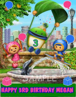 TEAM UMIZOOMI FROSTING SHEET EDIBLE CAKE TOPPER IMAGE DECORATIONS