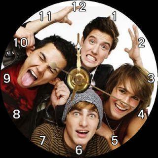 NEW Big Time Rush Band / BTR   James Maslow & Kendall Schmidt CD Clock