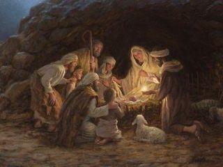 The Nativity Jesus Jon McNaughton 12x16 inch Framed or Unframed