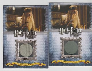 Half Blood Prince Costume Card MICHAEL GAMBON as ALBUS DUMBLEDORE 081