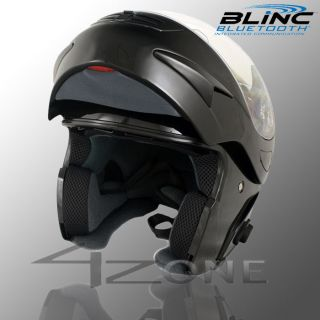 VCAN 200 ZERO BLUETOOTH FLIP UP HELMET BLACK S M L XL