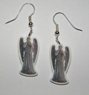 Dr Who Villans Weeping Angels Earings Do Not Blink