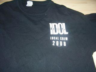 BILLY IDOL VERY COOL BLACK & WHITE 2008 LOCAL CREW T SHIRT SZ  EXTRA