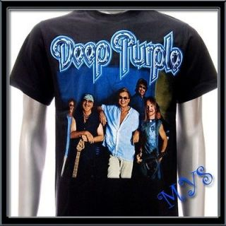 Sz M Deep Purple T shirt Men Rock Music Retro Punk Tour
