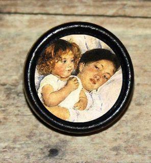 DAUGHTER LOVE Mary Cassatt Altered Art Tie Tack or Ring or Brooch pin